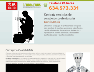 cerrajeroscastelldefelsbarcelona.es screenshot