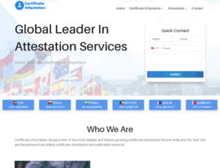 certificateattestation.com screenshot