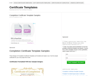certificatestemplate.com screenshot