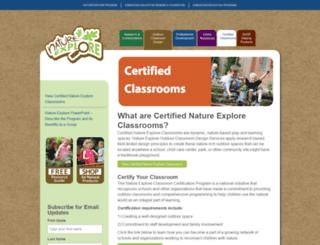 certified.natureexplore.org screenshot