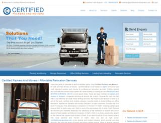 certifiedmoverspackers.com screenshot
