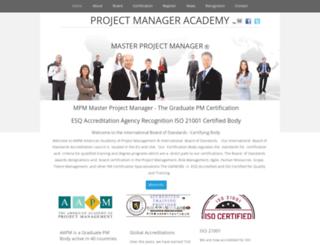 certifiedprojectmanager.net screenshot
