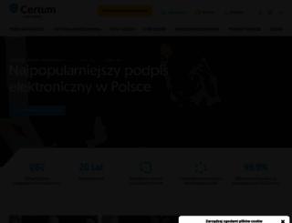 certum.pl screenshot