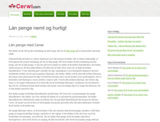 cerwi.com screenshot