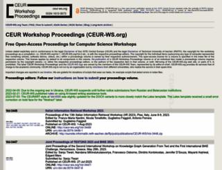ceur-ws.org screenshot