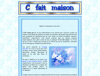 cfaitmaison.com screenshot