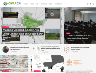 cgiar-csi.org screenshot