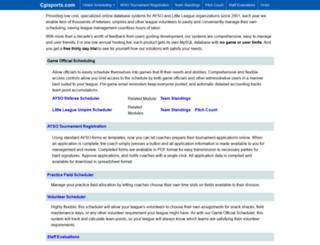 cgisports.com screenshot