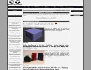cgonlinetutorials.com screenshot