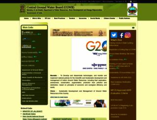 cgwb.gov.in screenshot