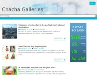 chachagalleries.com screenshot