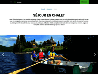 chalets.sepaq.com screenshot