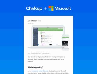 chalkup.co screenshot
