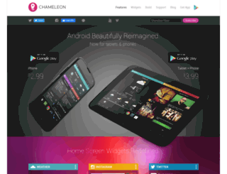 chameleonlauncher.com screenshot