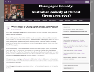 champagnecomedy.com screenshot