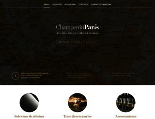 champeronparis.com screenshot