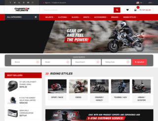 championhelmets.com screenshot