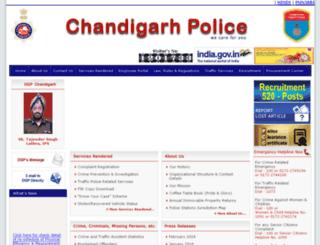 chandigarhpolice.nic.in screenshot