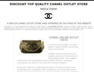 chanelbagsoutletstoreonline.com screenshot