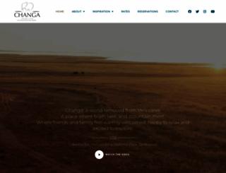 changasafaricamp.com screenshot
