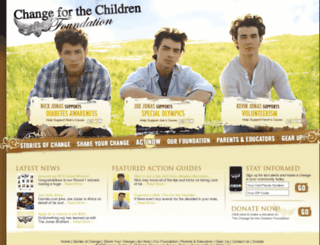 changeforthechildren.org screenshot