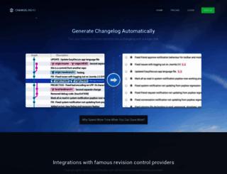 changeloghq.com screenshot