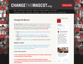 changethemascot.org screenshot