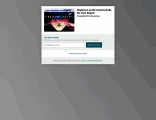chaosmos-as-the-universe-ends-the-hunt-begins.backerkit.com screenshot