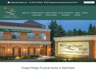 chapelridgefh.com screenshot
