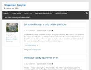 chapmancentral.co.uk screenshot