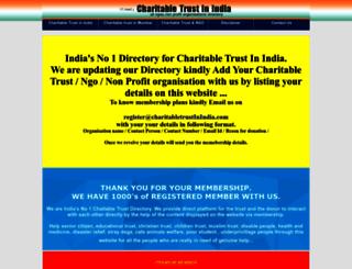 charitabletrustinindia.com screenshot