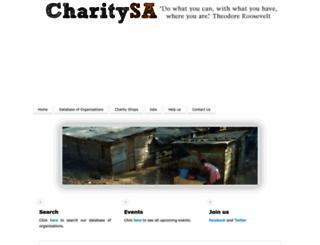 charitysa.co.za screenshot