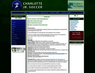charlottejuniorsoccer.org screenshot