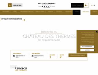 chateaudesthermes.com screenshot