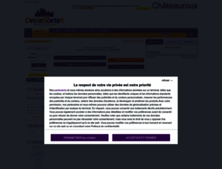 chateauroux.onvasortir.com screenshot