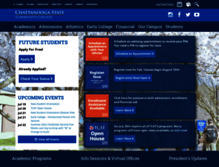chattanoogastate.edu screenshot