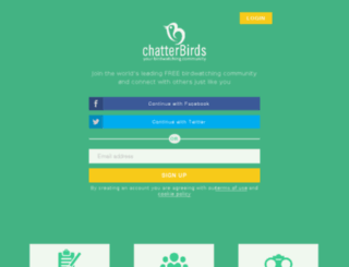 chatterbirds.com screenshot