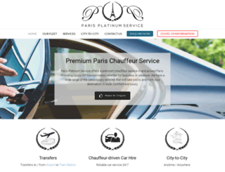 chauffeursparis.com screenshot