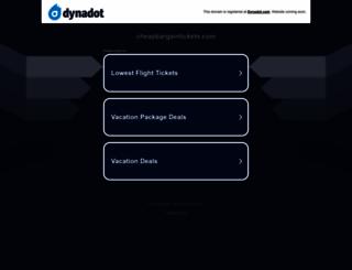 cheapbargaintickets.com screenshot