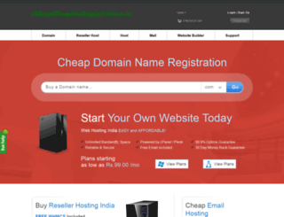 cheapdomainregistration.co.in screenshot