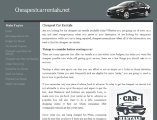 cheapestcarrentals.net screenshot