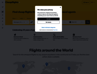 cheapflights.co.uk screenshot