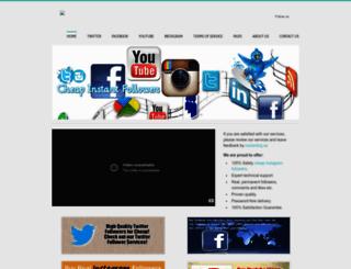 cheapinstantfollowers.com screenshot