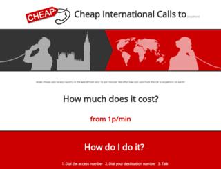 cheapinternationalcallsto.co.uk screenshot