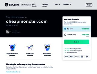 cheapmoncler.com screenshot