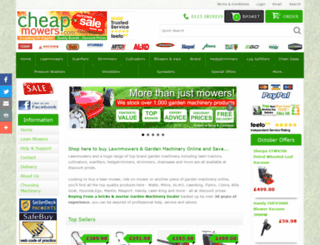 cheapmowers.com screenshot