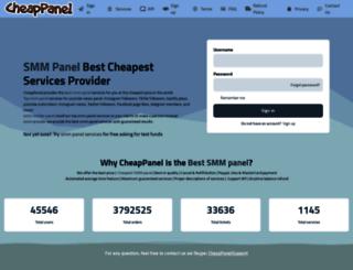 cheappanel.com screenshot