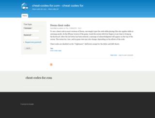 cheat-codes-for.com screenshot