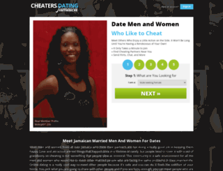cheatersdatingjamaica.com screenshot