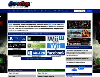 cheats.cheatcodes.com screenshot